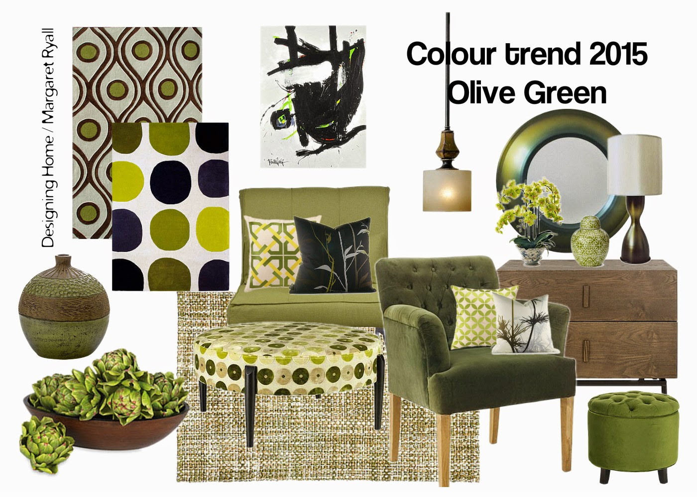 Designing home 10 reasons to love olive green for 2015 for Decoration chambre 10m2