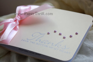 Pearl ribbon wedding invitation cards