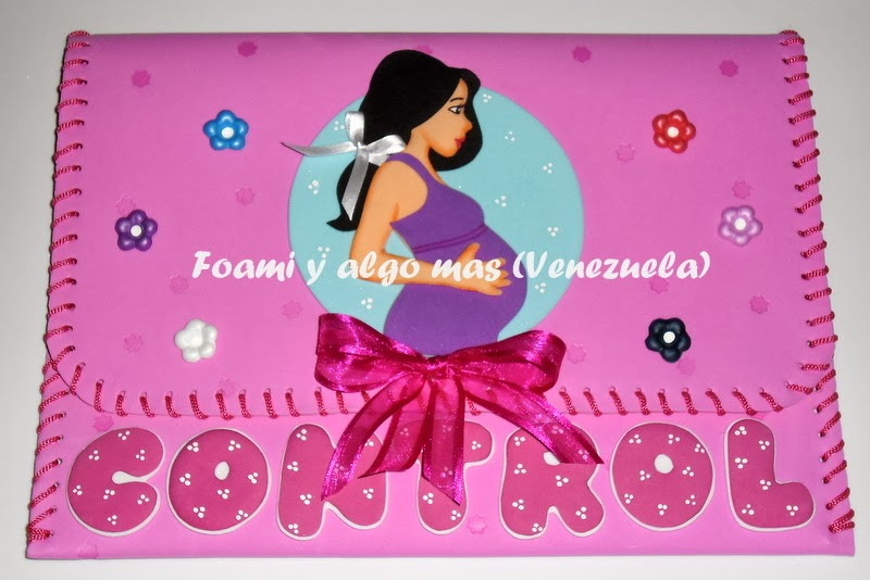 Carpetas de foami para control prenatal - Imagui