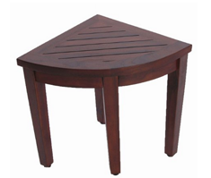 Oasis Bathroom Teak Corner Shower Seat