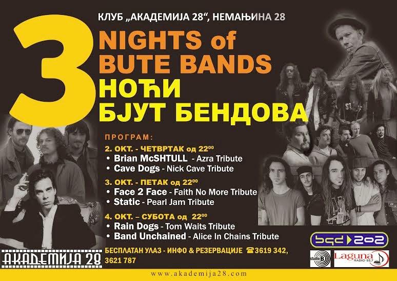 Festival tribjut bendova u Klubu Akademije 28