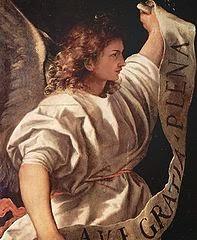 Pintura Ángel de la anunciación del artista italiano Tiziano