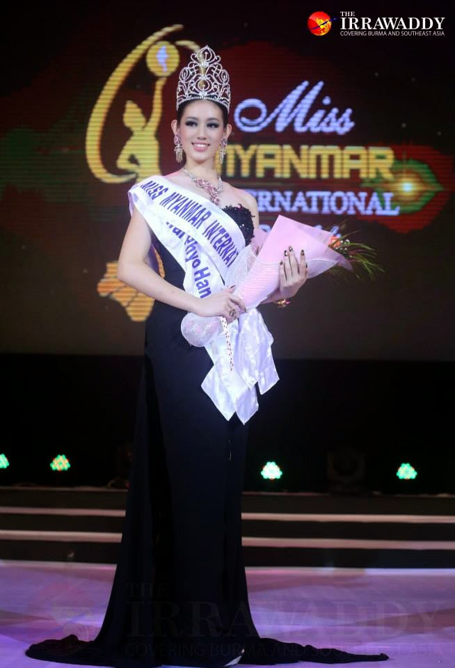 Miss Khin Wai Phyo Han is the winner of Miss Myanmar International 2014