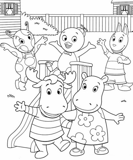 Backyardigans Coloring Pages Colouring for Kids