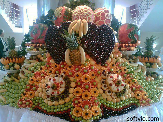 Caribbean taste flavours caribbean fruit buffets for Decoration fruit