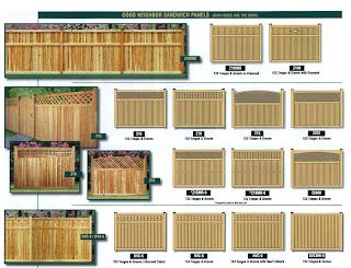 Схемы деревянного забора. Фото 3