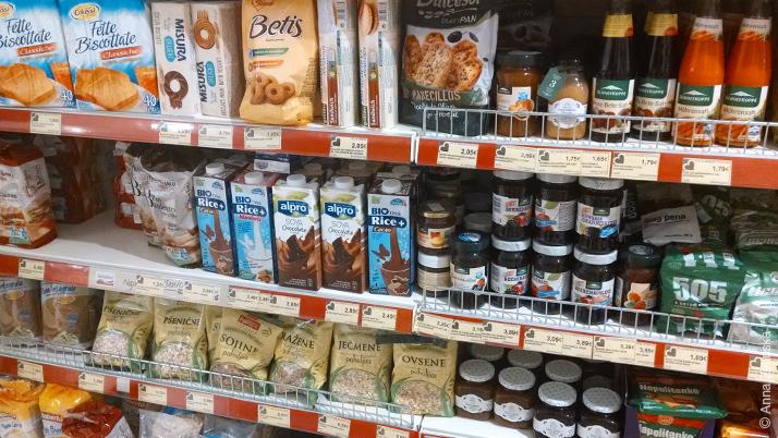Диетический отдел в супермаркете Черногории