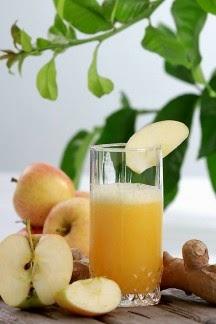 عصير التفاح والزنجبيل الصحي