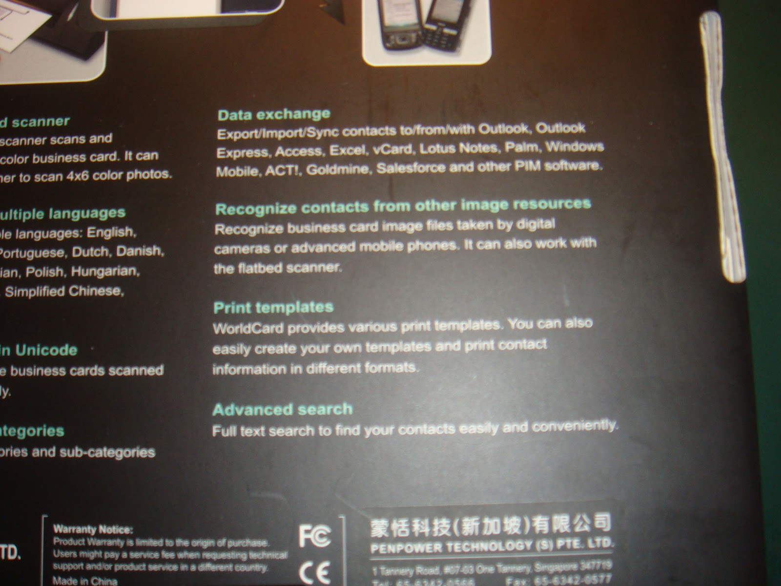 Pc parts and accessories penpower worldcard business card scanner according to the details i can do exactly that and it supports multiple pim reheart Gallery