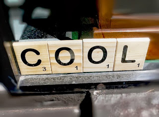 Giant wooden Scrabble letters from Judy Maxwell Genrl Store.