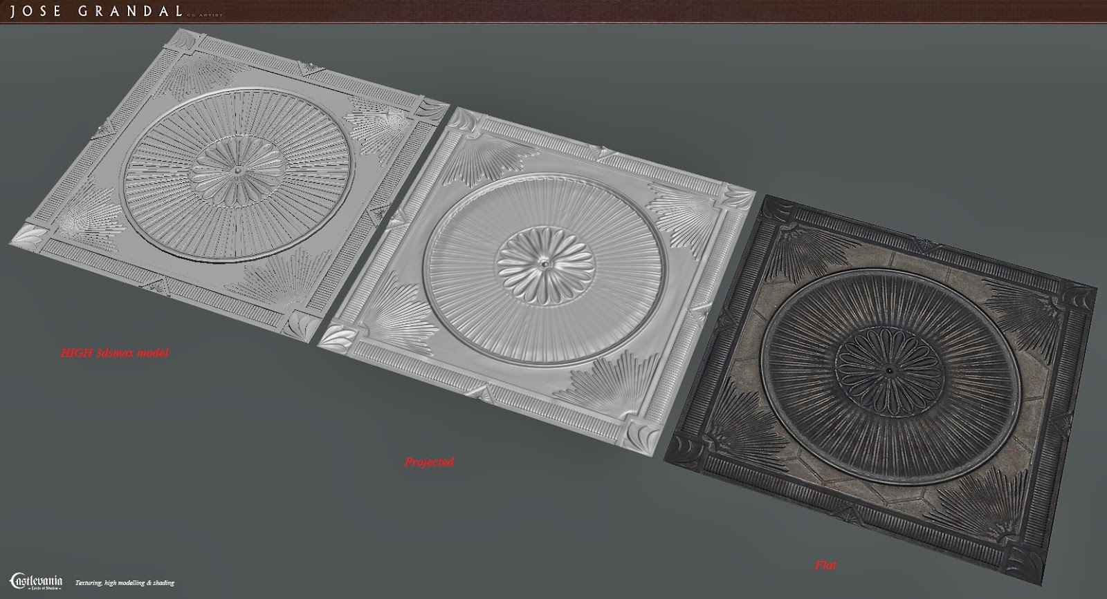 Jose grandal portfolio castlevania lords of shadow 2 for Floor normal map