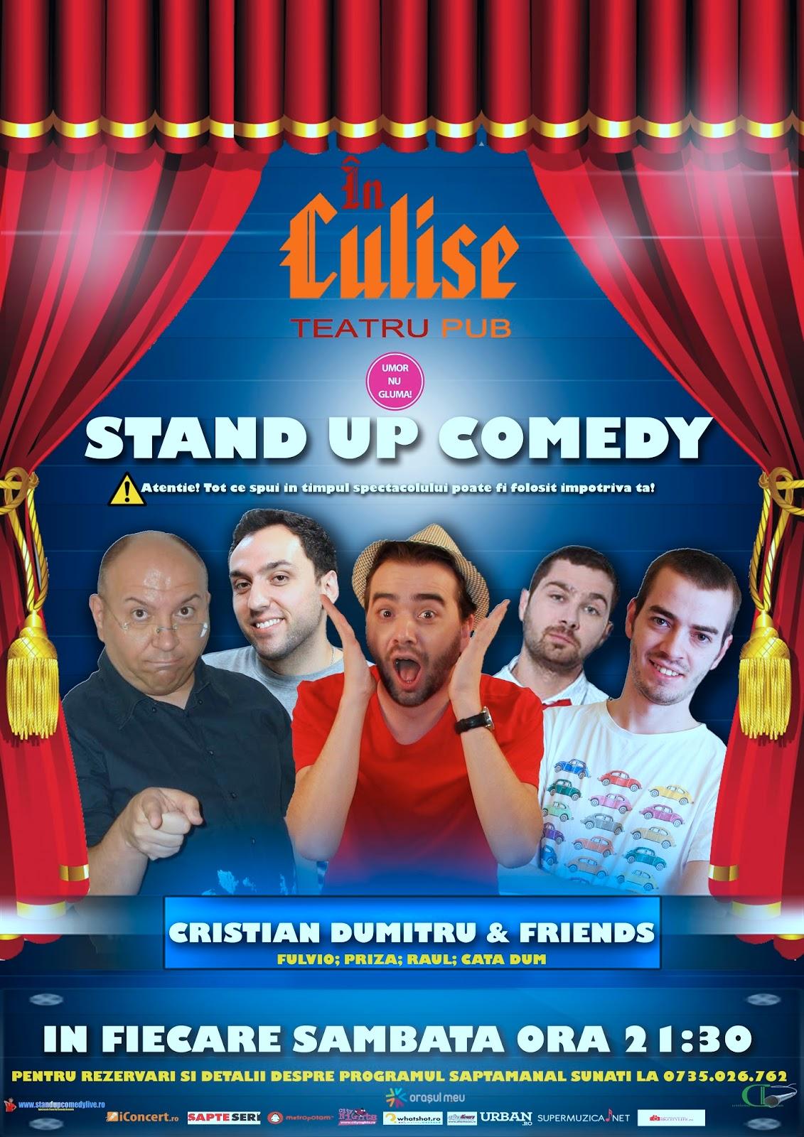 Sambata: Stand-Up Comedy Comedy Club Bucuresti