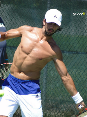 Fernando Verdasco Shirtless at Cincinnati Open 2010