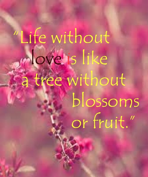 Life Without Love Is Like A Tree Without Blossoms Or Fruit