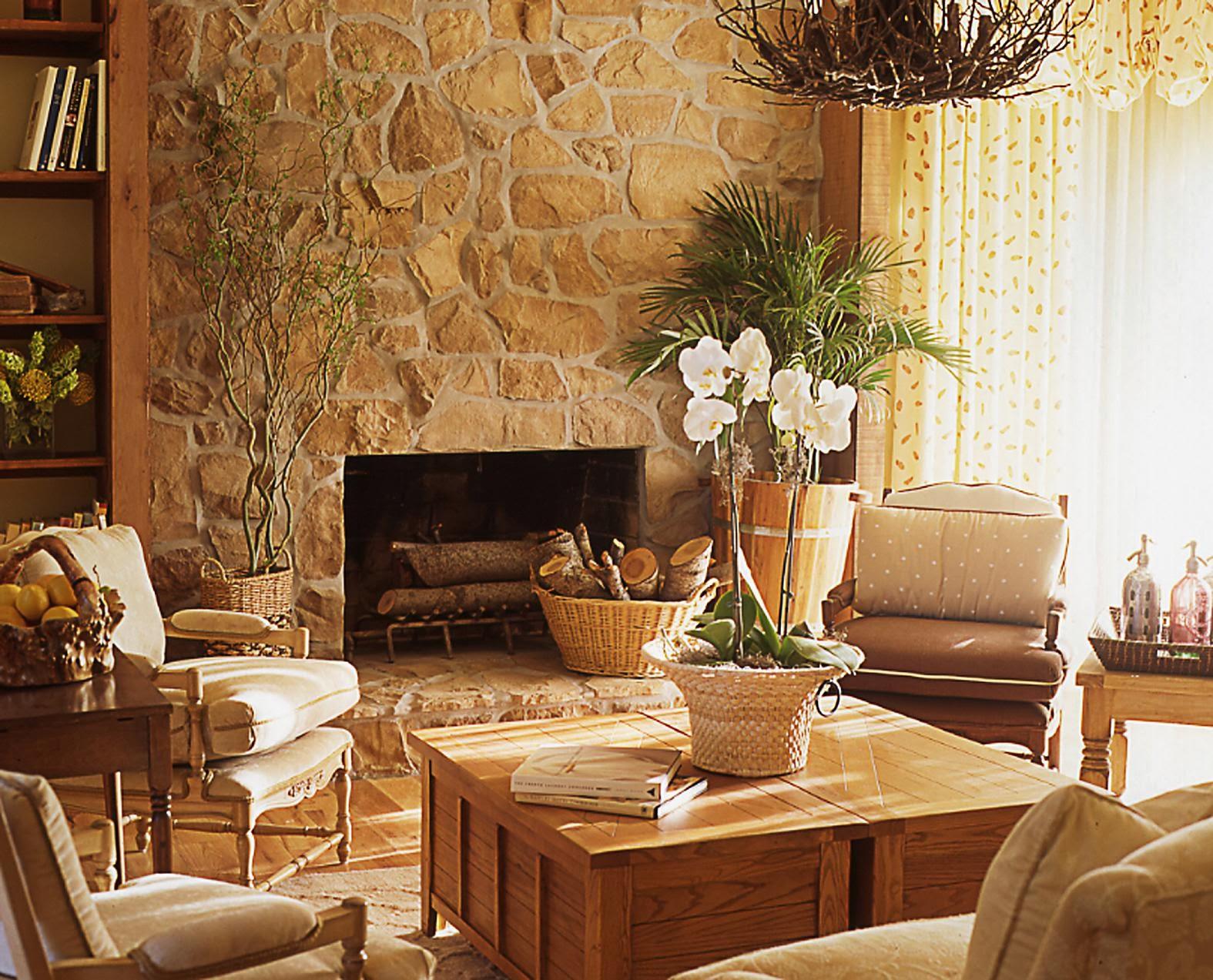 La maison 17 decoraci n interiorismo sal n i tama o y - Como decorar un salon con chimenea ...