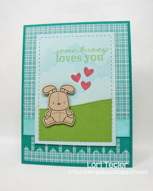 Some Bunny Loves You card-designed by Lori Tecler/Inking Aloud-stamps and dies from Mama Elephant