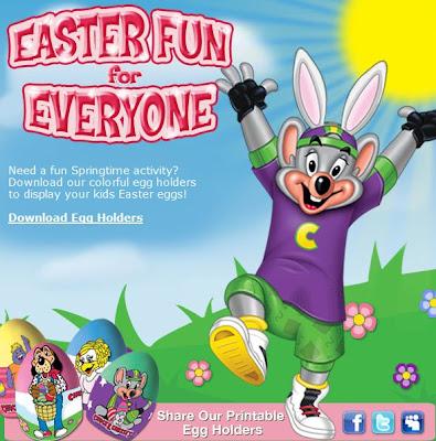 Chuck E Cheese Easter Egg Holders Living Mi Vida Loca
