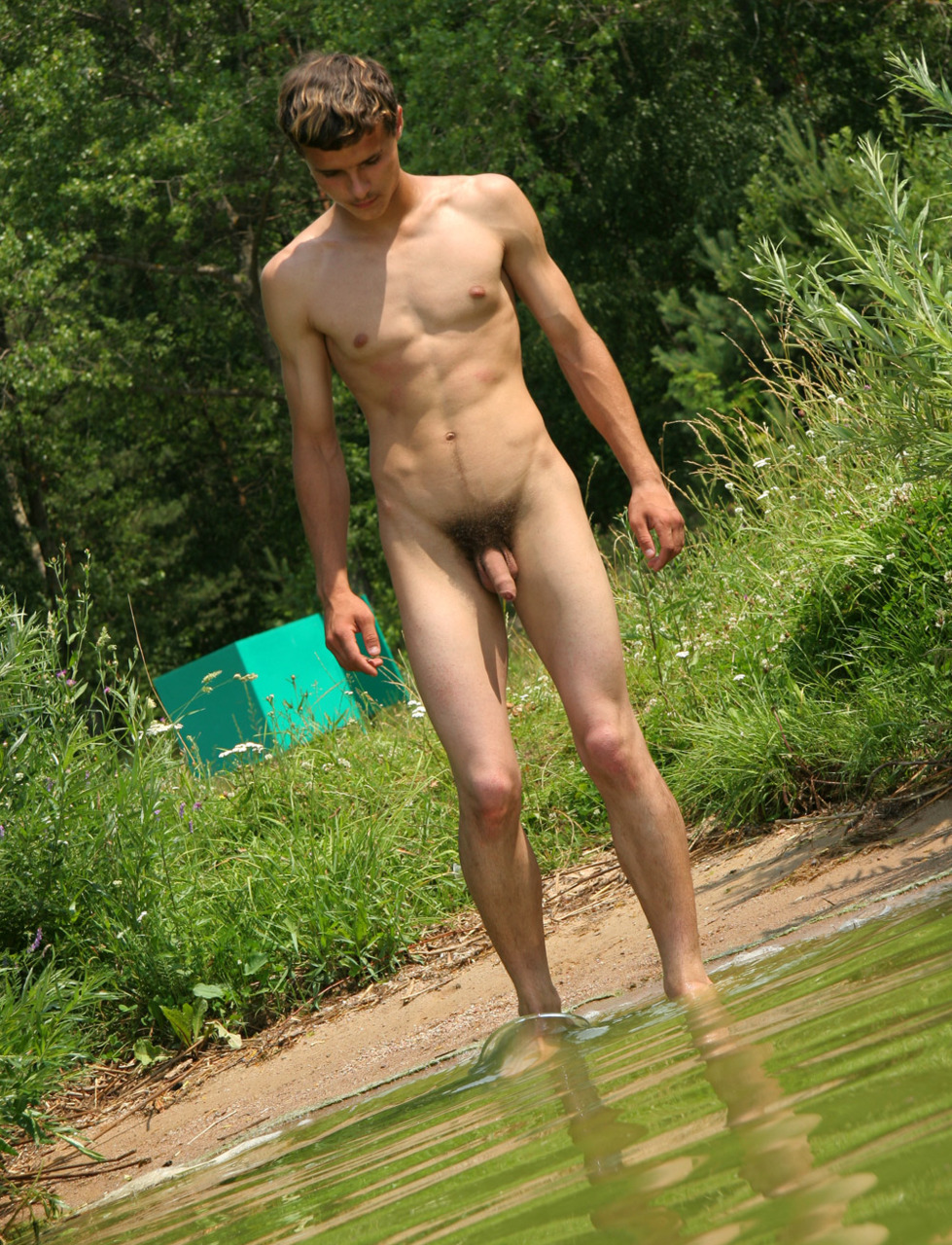 lake at gay Naked men the