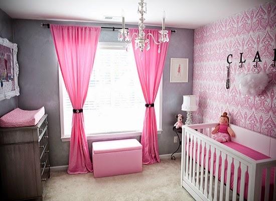 idée de Décoration chambre bébé rose