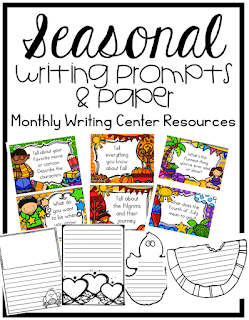 https://www.teacherspayteachers.com/Product/Writing-Centers-Seasonal-Prompts-and-Paper-1899812