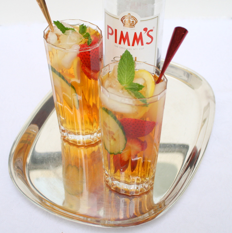 Savoury table toasting our graduate with a pimm 39 s royal cup for What to mix with pimms