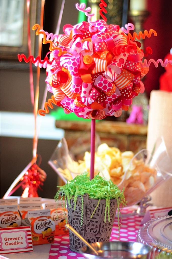 Michelle 39 s pink polka dot elmo birthday party polka dot - S birthday party decorations ...
