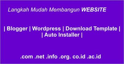 langkah mudah membangun website