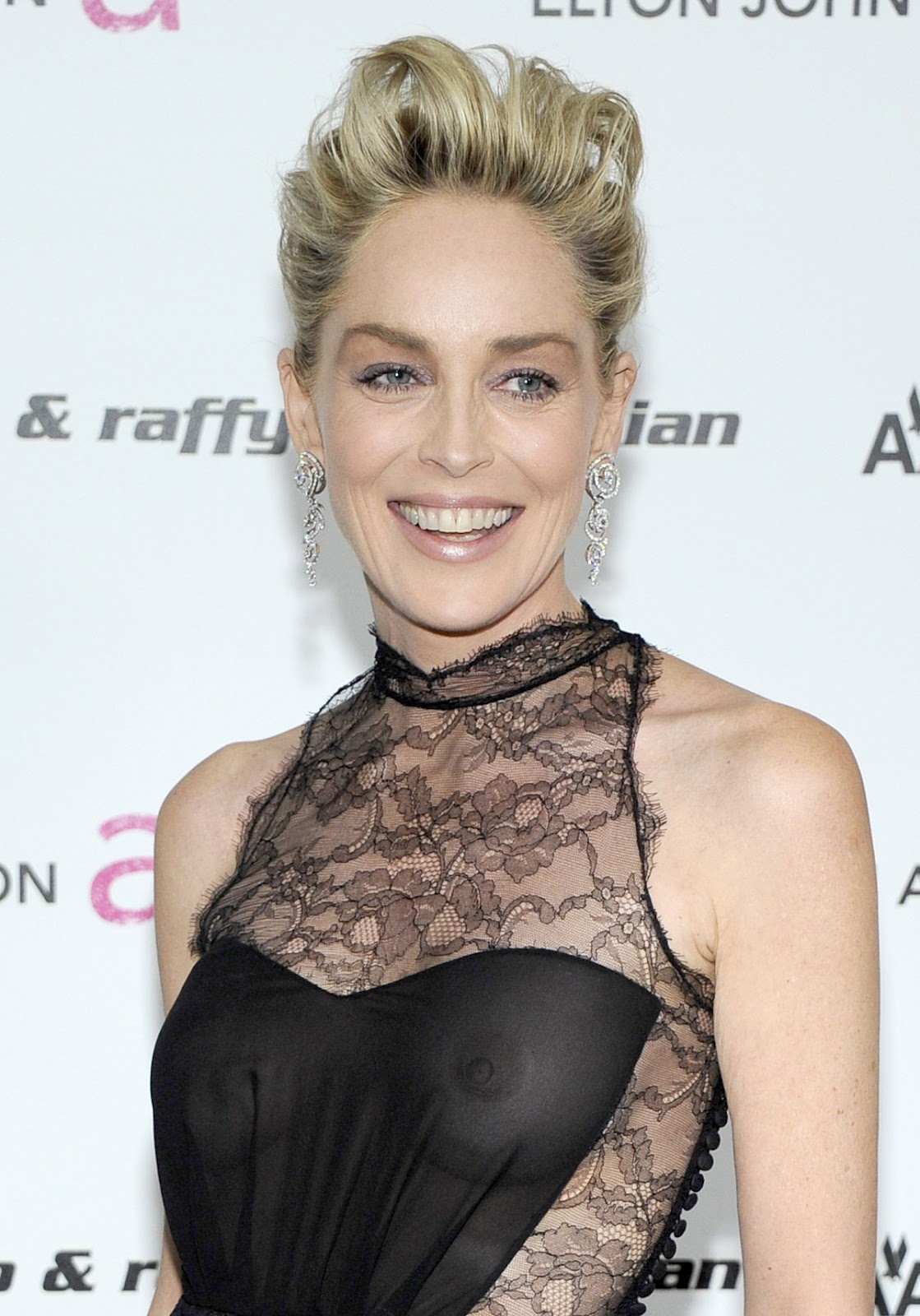 sharon stone see through dress