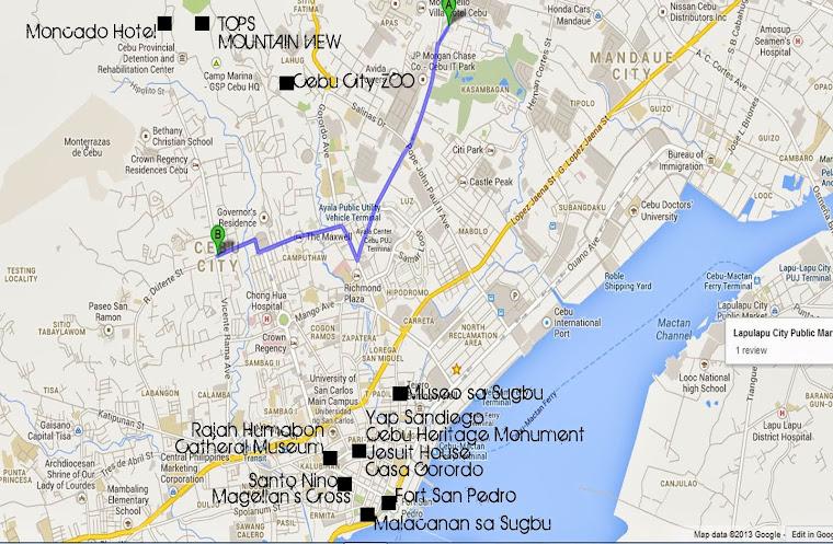 Cebu City Historical Site Map