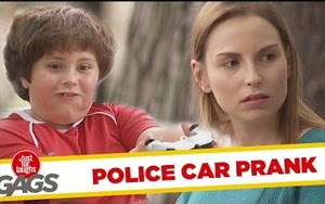 Kid Messing With Police Car – Funny Video