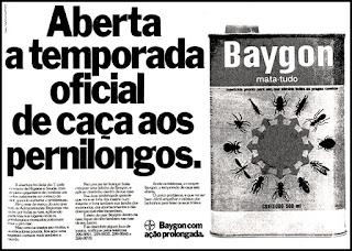 propaganda inseticida Baygon - 1978;  os anos 70; propaganda na década de 70; Brazil in the 70s, história anos 70; Oswaldo Hernandez;