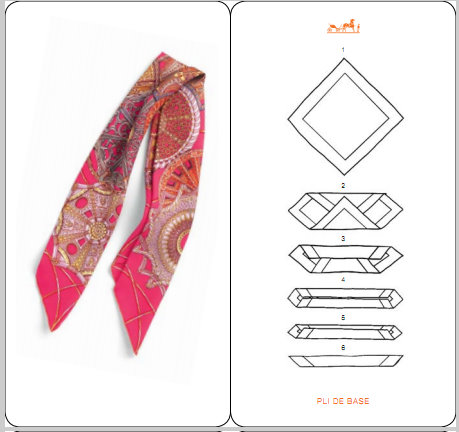 How To Fold Your HERMES Scarf -- 21 Diagrams | Content in a Cottage