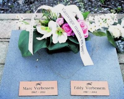 Gravsten for Marc og Eddy Verbessem