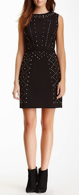 black studded sheath dress