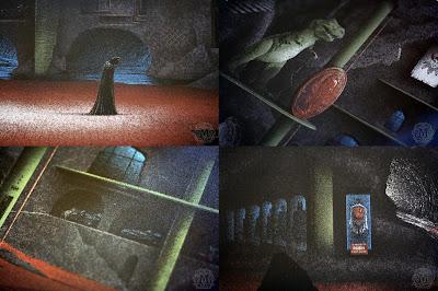 DC Comics x Mondo Screen Print Series - The Batcave Details Close Up by JC Richard