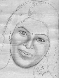 Pencil Sketch Of Kajal Aggarwal
