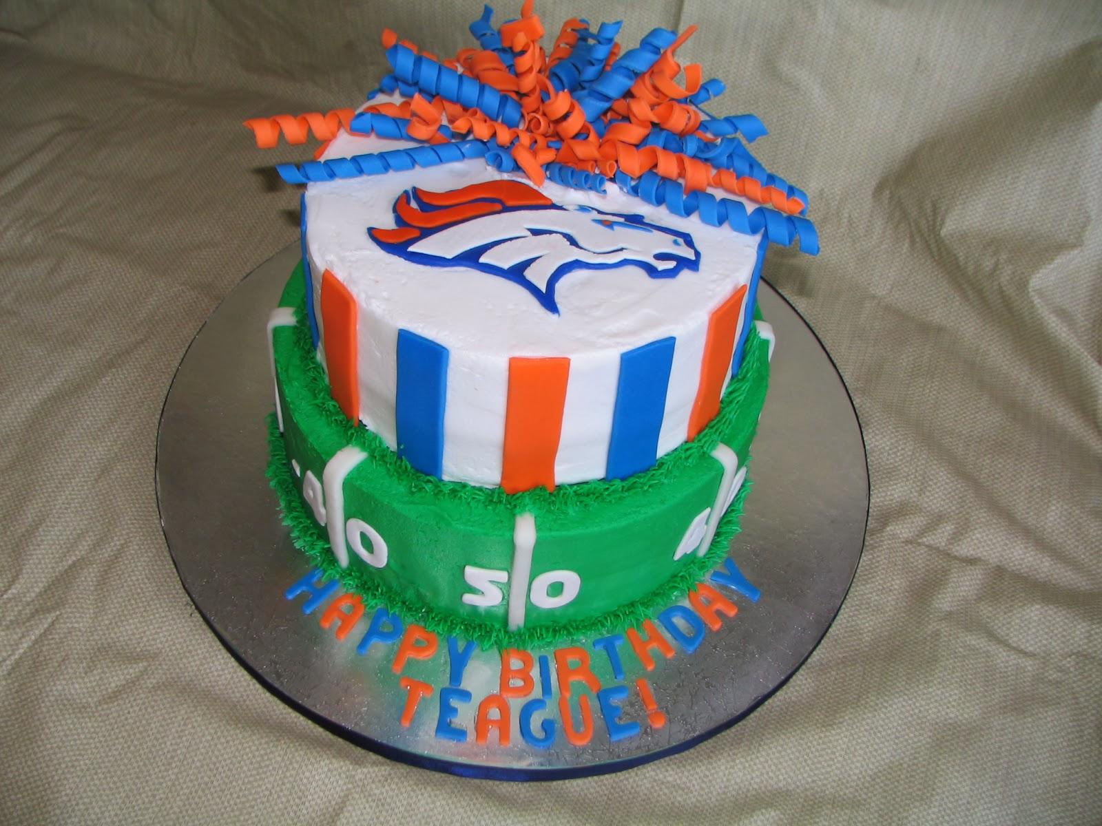 Piped Dreams Denver Broncos Cake