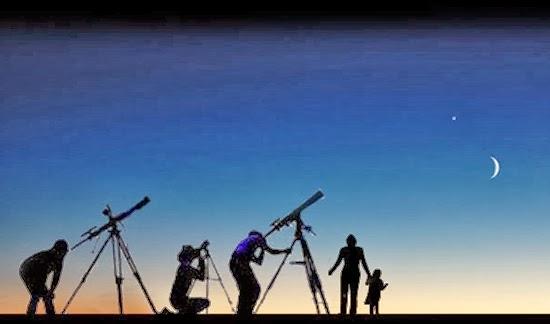 5 Planet dan Bulan Malam Ini Menghiasi Langit