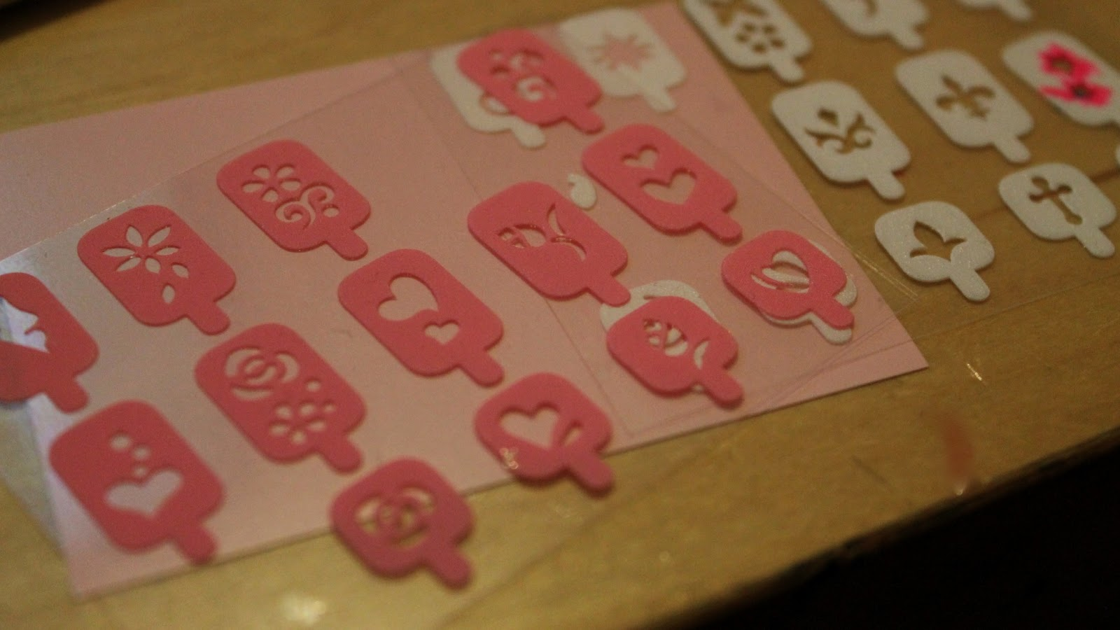 Kiss' nail stencils.