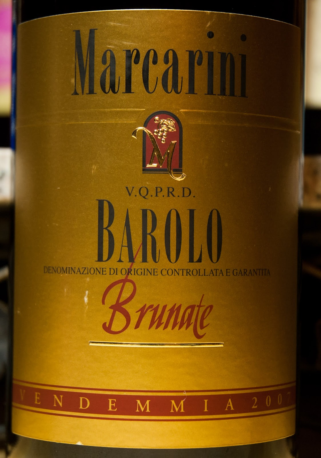 Brunate Barolo Vineyard 2007 Marcarini Barolo Brunate