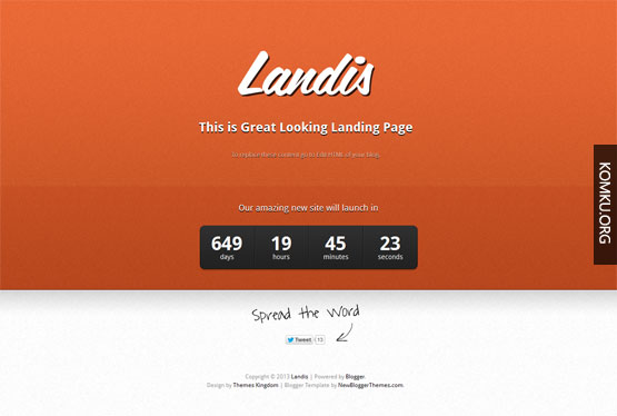 Landis Blogger template