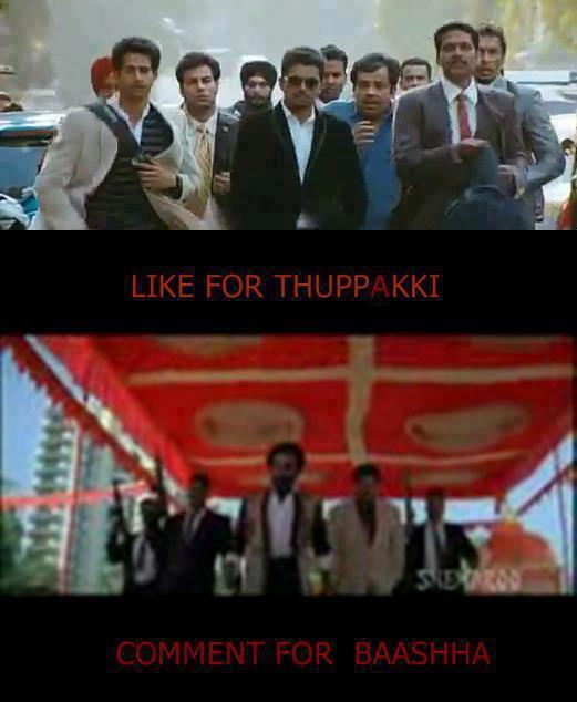 thalaiva vijay thuppaki vs baasha