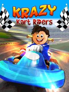 Krazy kart riders 240x320 Touchscreen Game,games for touchscreen mobiles,java touchscreen mobile game