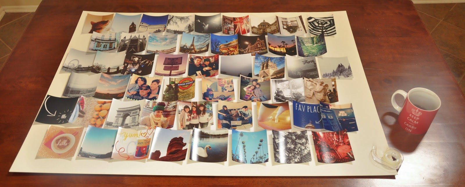 how to make a picture collage on poster board