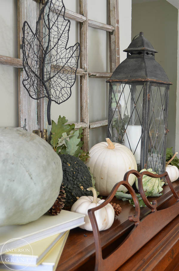 Beautiful neutral fall display.  |  www.andersonandgrant.com