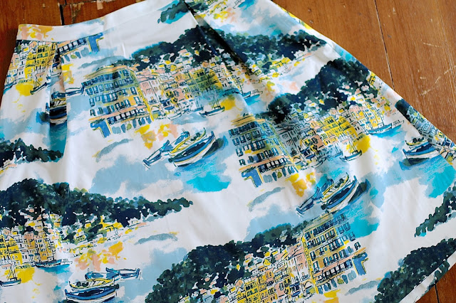 Scenic print 50s style midi skirt from George @ Asda