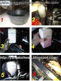 Proses mengganti coolant