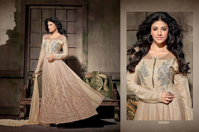 Latest Heavy Marvelous Georgette Long Anarkali Suit