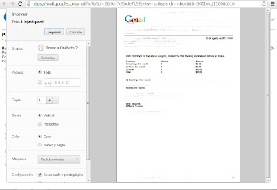 gmail documento impresión vista preliminar