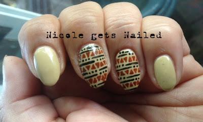 Tribal Print Nail Art